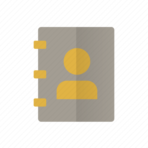 address book, contacts, note book, notes, phonebook, retro icon