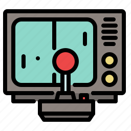 colored, games, joystick, play, pong, retro, tv icon