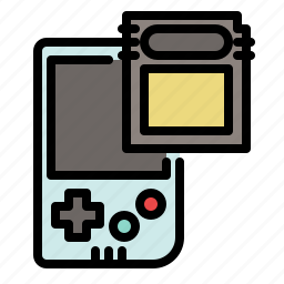 cartridge, colored, gameboy, games, play, retro icon