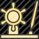 gift, premium, male, pen icon