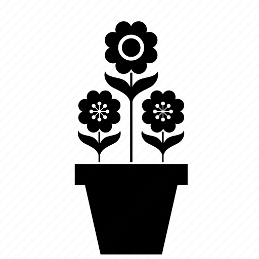 decoration, flower, flowerpot, flowers, home, nature icon