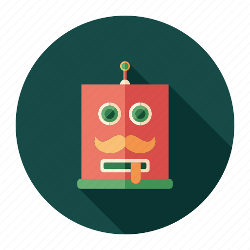 android, cyborg, head, intelligent, invention, robot, toy icon