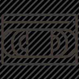 cassette, vhs, video icon