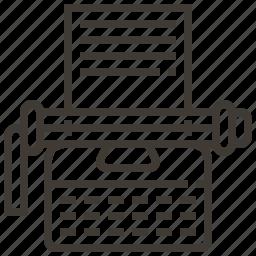 office, typewriter, typing icon