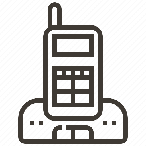 cordless phone, phone, talkie, walkie talkie icon