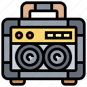 amplifier, electronic, radio, speaker, technology icon