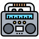 boombox, electronic, radio, speaker, technology