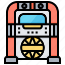 electronic, jukebox, music, radio, song, technology icon