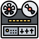 backup, electronic, movie, reel, tape, technology icon