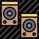 amplify, electronic, sound, speaker, technology icon
