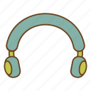 headphones, headset, listen, music, retro, ui, user interface icon