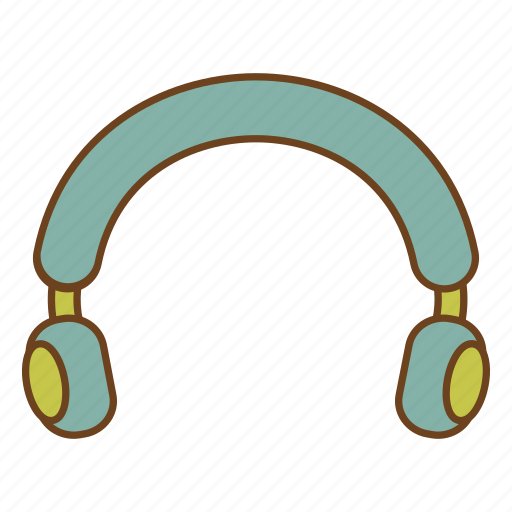 headphones, headset, listen, music, retro, ui, user interface icon