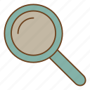 magnifying glass, retro, search, ui, user interface, zoom icon