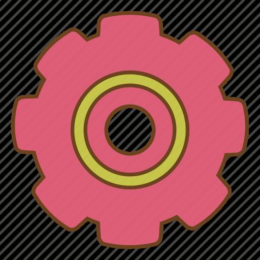 configure, gear, retro, settings, setup, ui, user interface icon