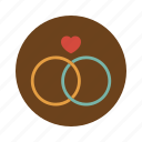 circle, diamon, love, married, retro, ring, wedding icon