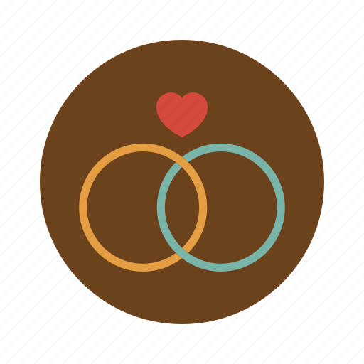circle, diamon, love, married, retro, ring, wedding icon