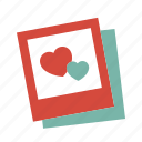 love, memory, photo icon