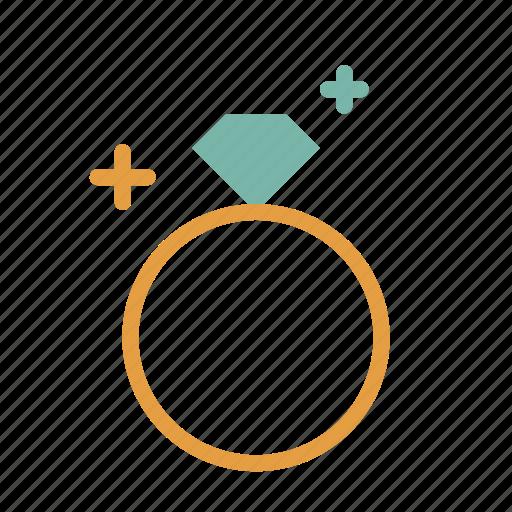 diamond, jewelry, ring icon