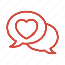chat, communication, love, married, wedding icon
