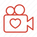 camera, love, married, video, wedding icon