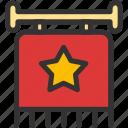 achievement, flag, reward, sign icon
