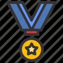 achievement, award, medal, rank, reward icon