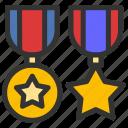 achievement, medal, military, reward icon