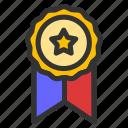 achievement, certificate, reward, ribbon icon