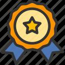 achievement, medal, reward, ribbon icon