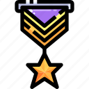 best, first, medal, prize, sports, star, winner icon