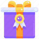 badge, birthday, gift, medal, present, prize, surprise