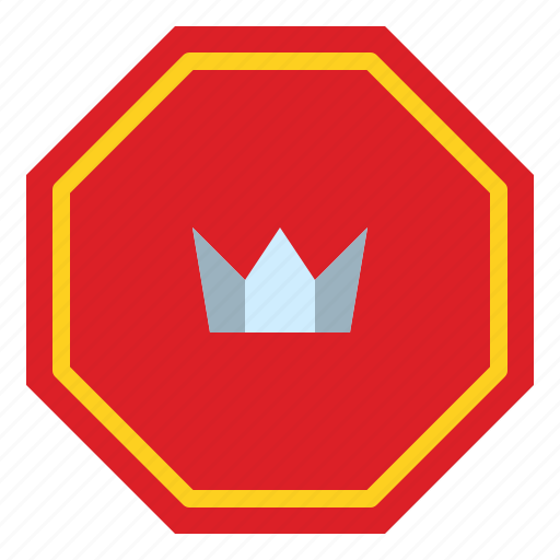 badge, crown, game, rank icon