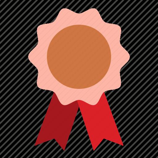 Award, badge, copper, reward icon - Download on Iconfinder