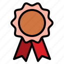 award, badge, copper, reward
