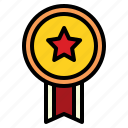 champion, medal, reward, star icon