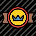 badge, crown, quality, rank, reward