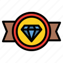 badge, diamond, quality, rank, reward