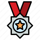 champion, competition, medal, reward, star icon