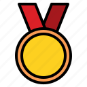 champion, medal, reward, top