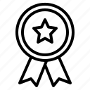 reward, good, badge, quality icon