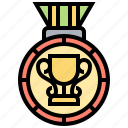 award, badge, bestowal, honor, medal icon
