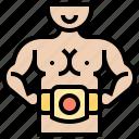 belts, boxer, championship, winner, wrestling icon