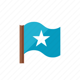2, flag, star icon