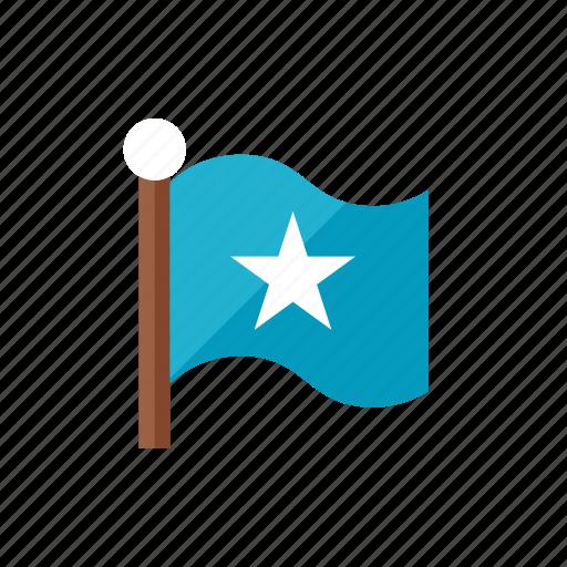 2, flag, star icon