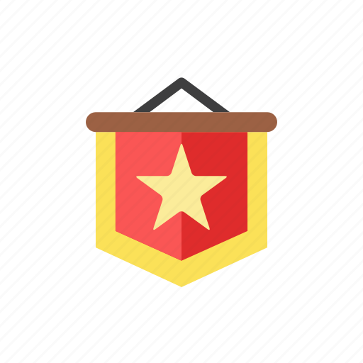flag, star icon