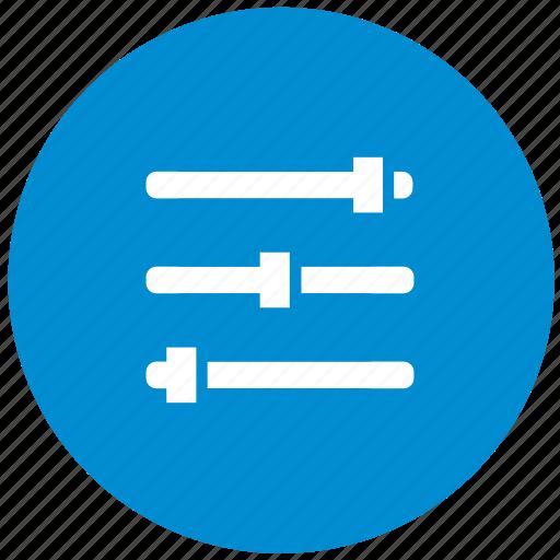 blue, configurate, configuration, option, round, settings icon