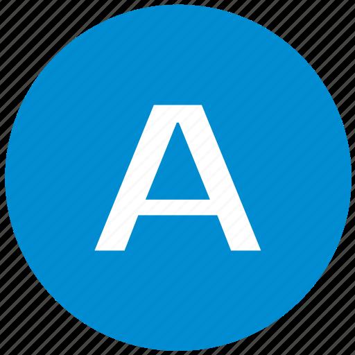 A, latin, key, letter icon