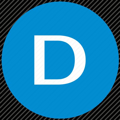 d, key, latin, letter icon