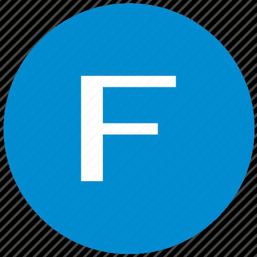 f, key, latin, letter icon