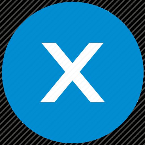 key, latin, letter, x icon
